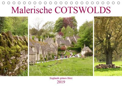 Malerische Cotswolds (Tischkalender 2019 DIN A5 quer), Gisela Kruse