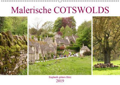 Malerische Cotswolds (Wandkalender 2019 DIN A2 quer), Gisela Kruse
