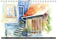 Malerische Dorfansichten in Aquarell (Tischkalender 2019 DIN A5 quer) - Produktdetailbild 4