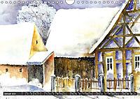 Malerische Dorfansichten in Aquarell (Wandkalender 2019 DIN A4 quer) - Produktdetailbild 1