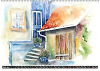 Malerische Dorfansichten in Aquarell (Wandkalender 2019 DIN A2 quer) - Produktdetailbild 4