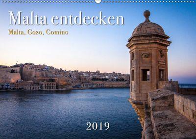 Malta entdecken Malta, Gozo, Comino (Wandkalender 2019 DIN A2 quer), Emel Malms