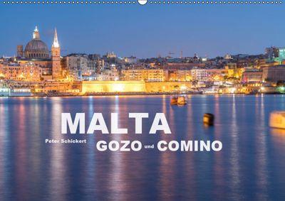 Malta - Gozo und Comino (Wandkalender 2019 DIN A2 quer), Peter Schickert