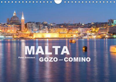 Malta - Gozo und Comino (Wandkalender 2019 DIN A4 quer), Peter Schickert