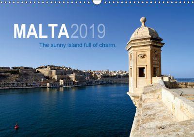 Malta. The sunny island full of charm. (Wall Calendar 2019 DIN A3 Landscape), Frank Mitchell