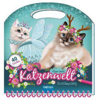 Maltasche Meine bunte Katzenwelt - Kostümparty mit Glitzercover