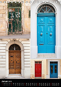 Maltesische Türen - Stimmungsvoll, schön und farbenfroh (Tischkalender 2019 DIN A5 hoch) - Produktdetailbild 1