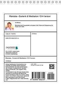 Mandala - Esoterik & Meditation / CH-Version (Tischkalender 2019 DIN A5 hoch) - Produktdetailbild 13