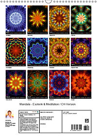 Mandala - Esoterik & Meditation / CH-Version (Wandkalender 2019 DIN A3 hoch) - Produktdetailbild 13