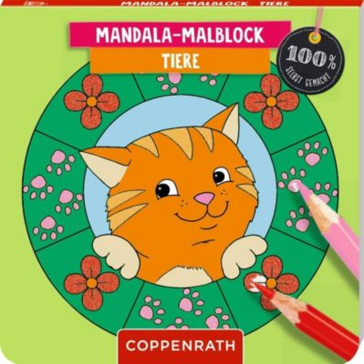 Mandala-Malblock - Tiere