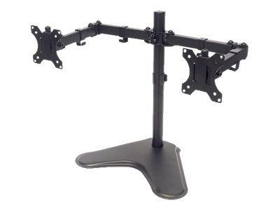 MANHATTAN Standfuss mit Monitorarm fuer 2 Monitore 33,02-81,28cm 13Z bis 32Z bis zu 8kg zweifach schwenkbar schwarz