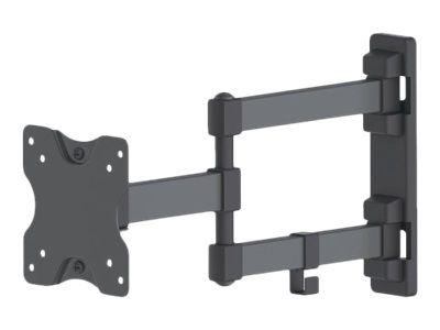 MANHATTAN TV-Wandhalterung 33-68,6cm 13-27 Zoll ein dopplet schwenkbarer Arm neig- und schwenkbar fuer Flachbildschirme bis 20kg
