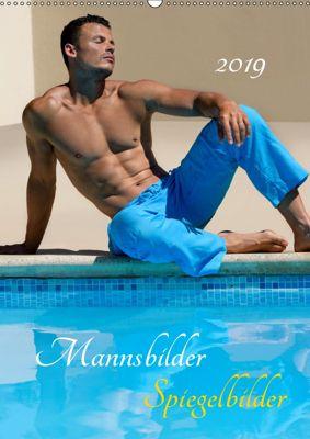 Mannsbilder Spiegelbilder (Wandkalender 2019 DIN A2 hoch), malestockphoto