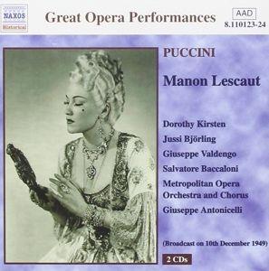 Manon Lescaut, Antonicelli, Björling, Kirsten