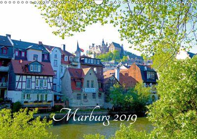 Marburg 2019 (Wandkalender 2019 DIN A3 quer), Monika Bunk