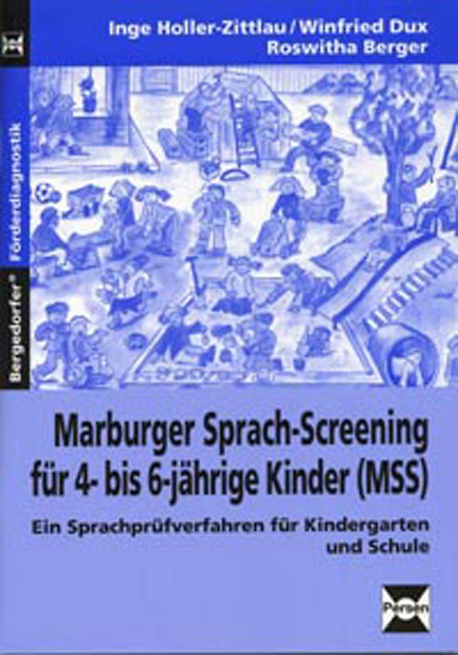 marburger sprach screening f r 4 bis 6 j hrige kinder mss. Black Bedroom Furniture Sets. Home Design Ideas