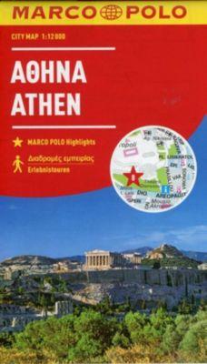 MARCO POLO Cityplan Athen 1:12000