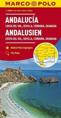 MARCO POLO Karte Andalusien, Costa del Sol, Sevilla, Cordoba, Granada 1:200 000; Andalousie - Costa del Sol, Séville, Co -  pdf epub