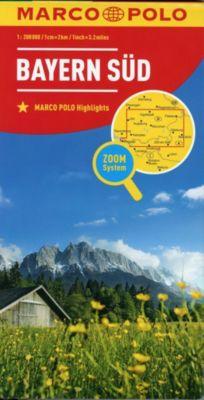 MARCO POLO KarteBayern Süd / South Bavaria / Sud Bavière