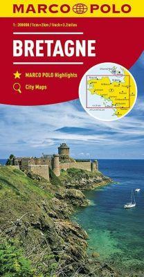 MARCO POLO Karte Bretagne 1:200 000; Brittany