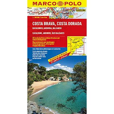 Costa Brava Costa Dorada Karte.Marco Polo Karte Costa Brava Costa Dorada Buch Weltbild Ch