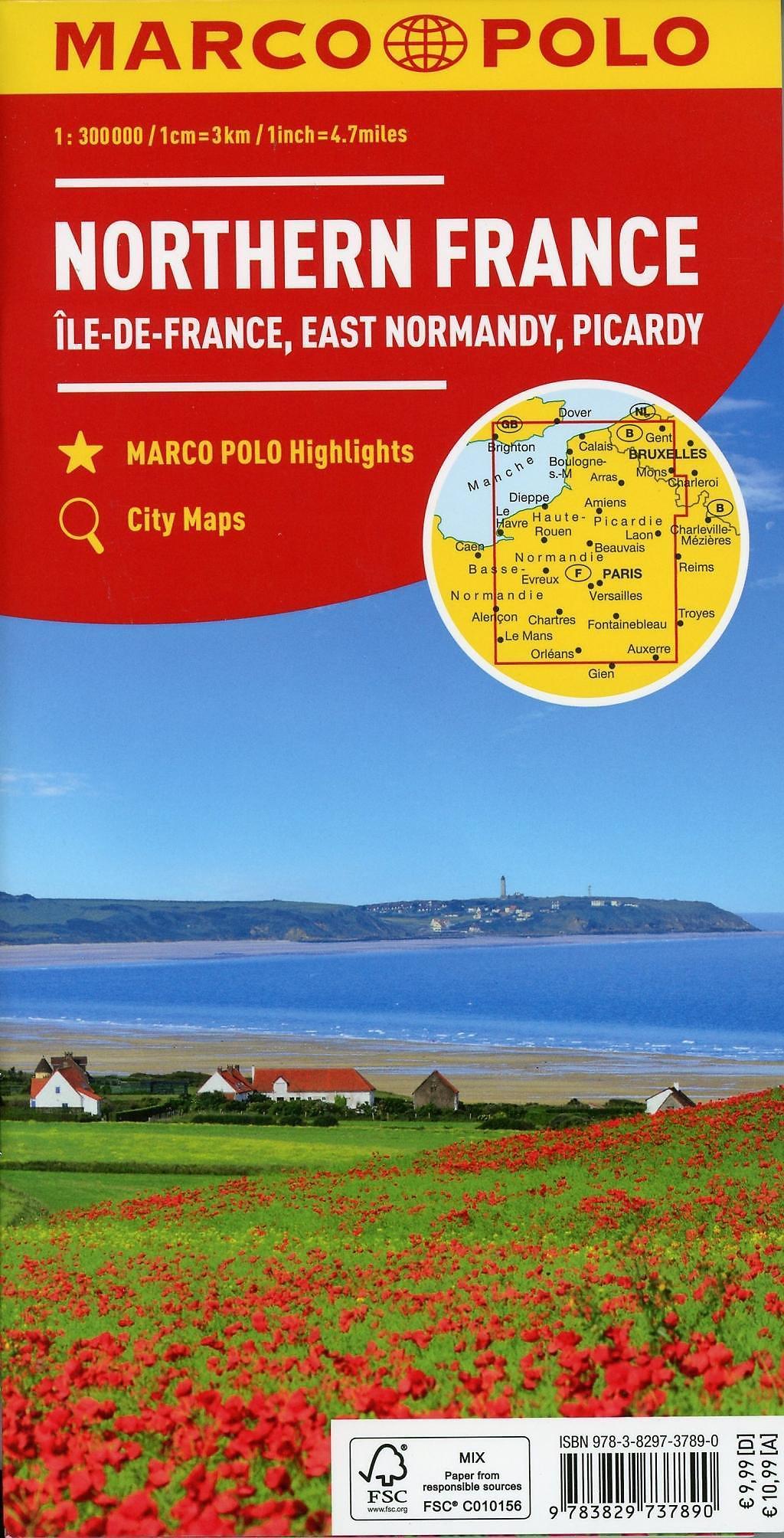 Nordfrankreich Karte.Marco Polo Karte Frankreich Nordfrankreich 1 300 000 Northern France