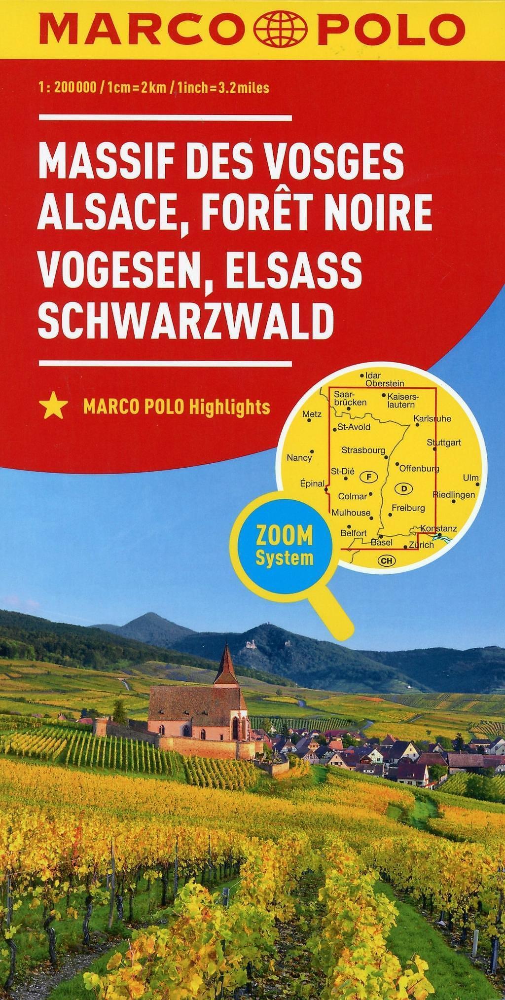 Elsass Karte Frankreich.Marco Polo Karte Frankreich Vogesen Elsass Schwarzwald 1