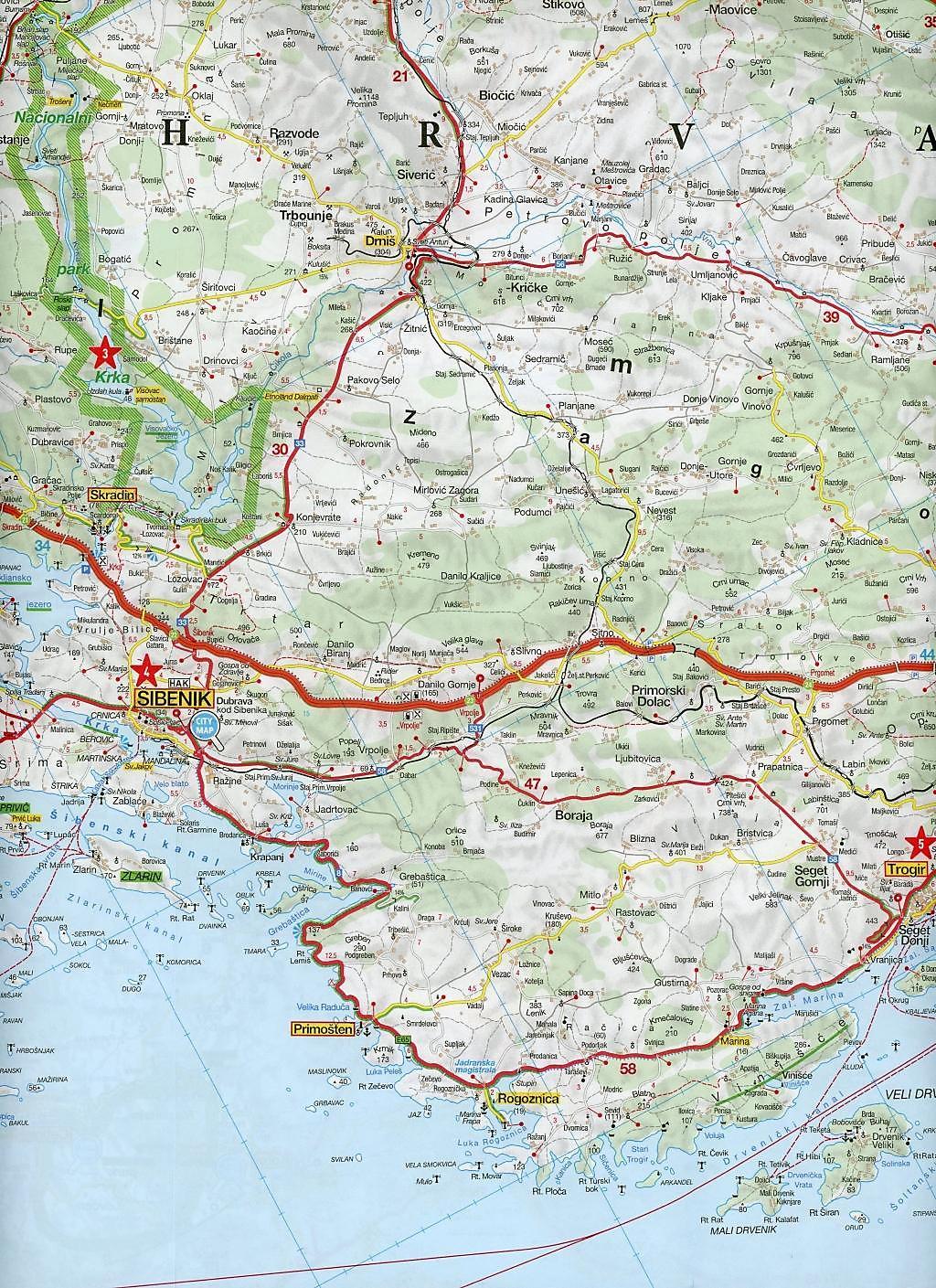 Istrien Karte Zum Ausdrucken.Marco Polo Karte Hr Dalmatien Kroatische Kuste 1 200 000