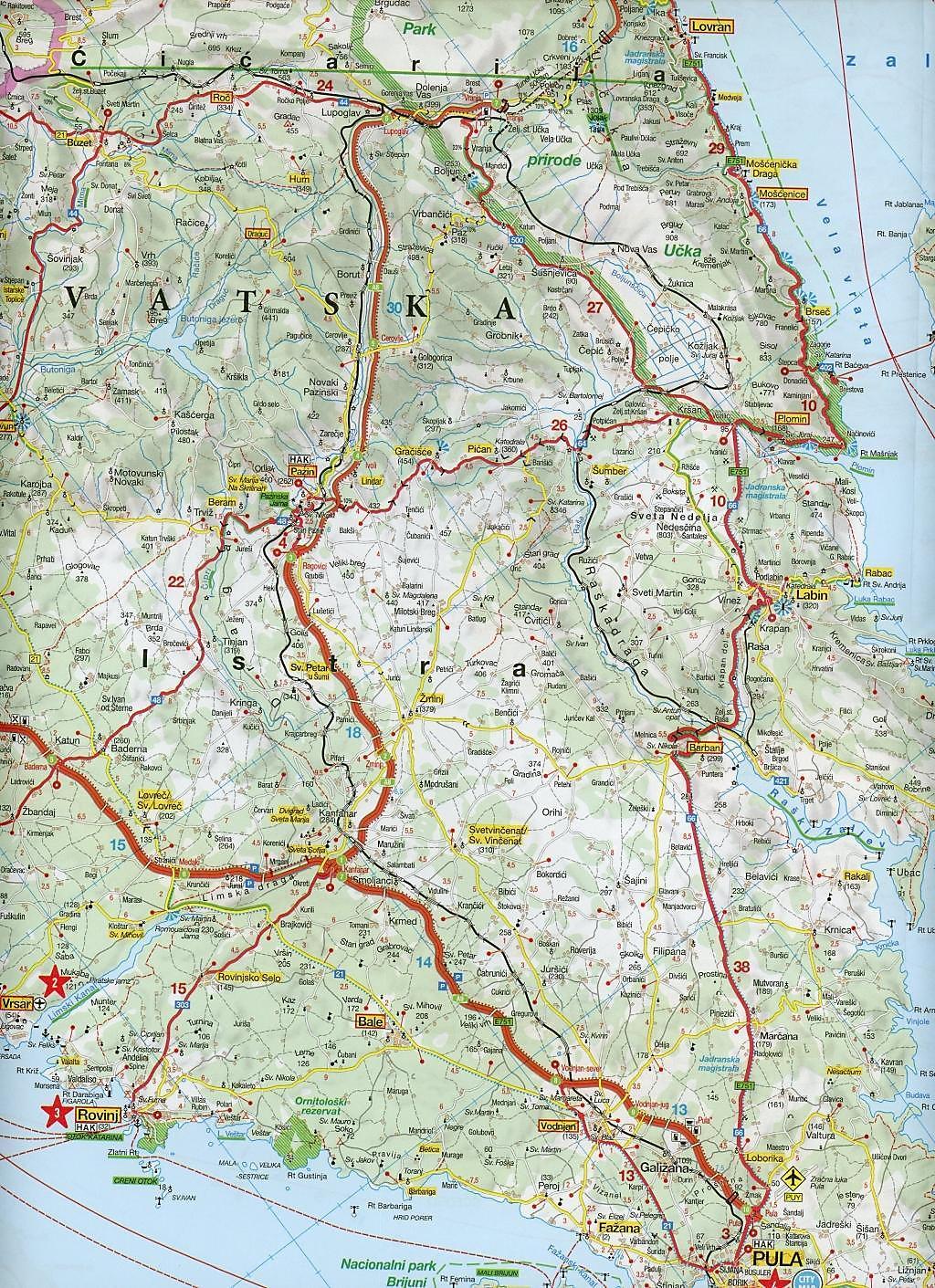 Istrien Karte Zum Ausdrucken.Marco Polo Karte Istrien Kroatische Kuste Nord Und Mitte 1