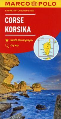 MARCO POLO Karte Korsika 1:150 000; Corsica / Corse