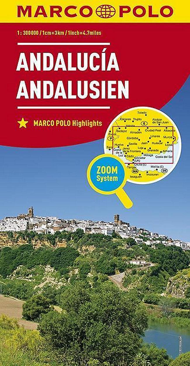 Spanische Karte.Marco Polo Karte Spanien Andalusien 1 300 000 Buch Weltbild Ch