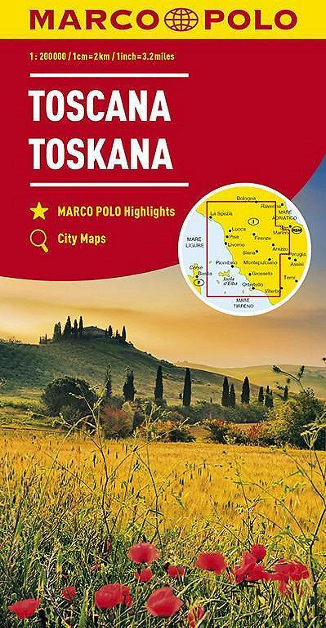 Toskana Karte Deutsch.Marco Polo Karte Toskana 1 200 000 Toscana Tuscany Toscane Buch