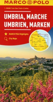MARCO POLO Karte Umbrien, Marken 1:200 000; Umbria, Marches; Umbria, Marche. Ombrie, Marches