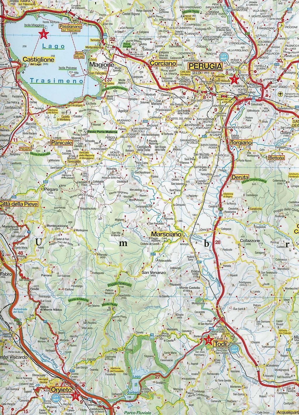 umbrien karte MARCO POLO Karte Umbrien, Marken 1:200 000 Umbria, Marches Umbria