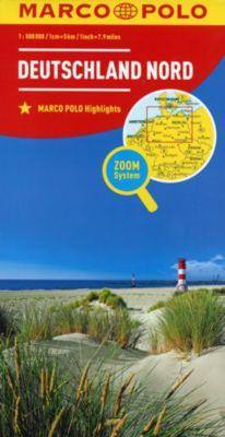 MARCO POLO Länderkarte Deutschland Nord / Northern Germany / Allemagne du Nord -  pdf epub