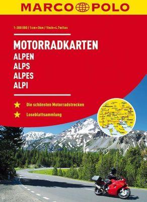 MARCO POLO Motorrad-Karten Alpen / Alps / Alpes / Alpi 1:300 000