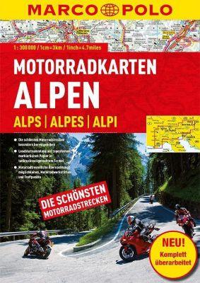 Marco Polo Motorradkarten Alpen 1:300 000