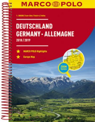 MARCO POLO Reiseatlas Deutschland /Germany /Allemagne 2018/2019