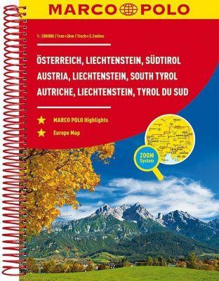 MARCO POLO Reiseatlas Österreich, Liechtenstein, Südtirol / Austria, Liechtenstein, South Tyrol / Autriche, Liechtenstei