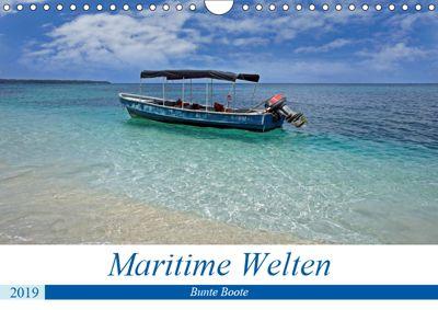 Maritimes - Bunte Boote (Wandkalender 2019 DIN A4 quer), Christian Schnoor