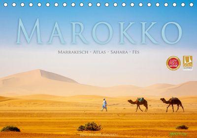 Marokko: Marrakesch, Atlas, Sahara, Fès (Tischkalender 2019 DIN A5 quer), Jens Benninghofen