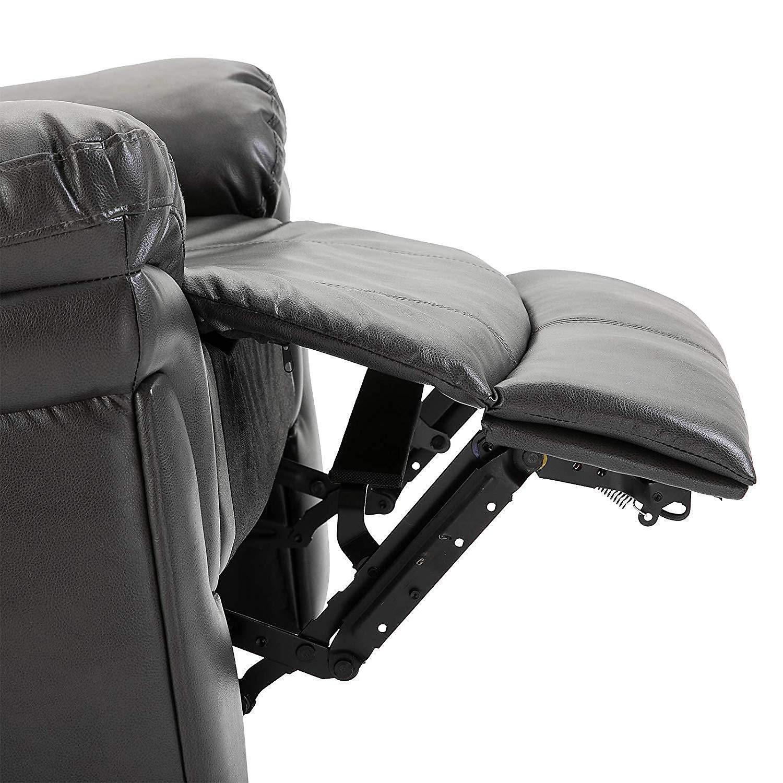 Wärme Und Natürlichkeit: Massagesessel Mit Wärme- Und Liegefunktion Farbe: Grau