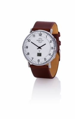 Master Time Herren-Funk-Armbanduhr Advanced, braun