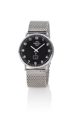 Master Time Herren-Funk-Armbanduhr Advanced, silber
