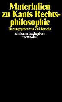 Materialien zu Kants Rechtsphilosophie