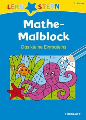 Mathe-Malblock: 2. Klasse. Das kleine Einmaleins - Sabine Schwertführer |