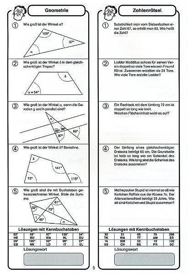 Prächtig Mathe zum Schmunzeln: 7. 8. Schuljahr, Sachaufgaben jetzt kaufen #MV_71