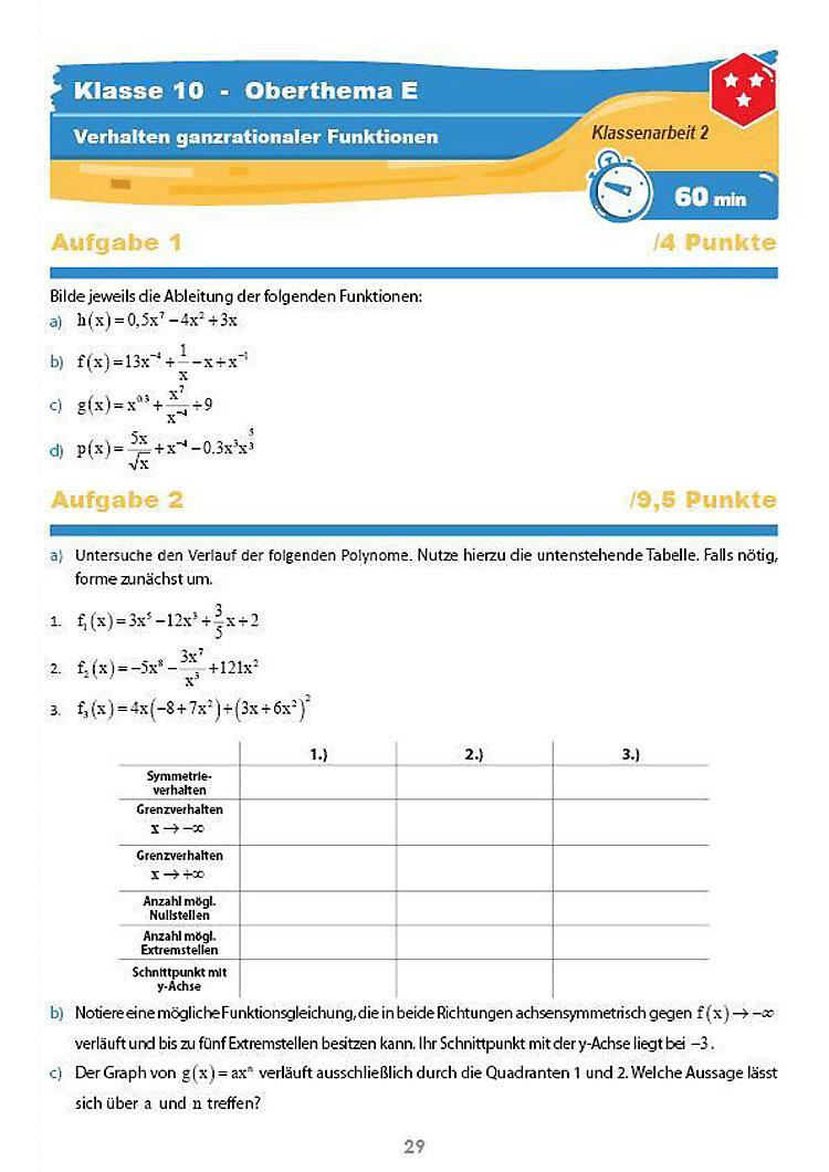 Mathematik Klassenarbeiten Klasse 10 Buch Bestellen