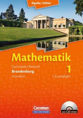 Mathematik, Sekundarstufe II, Ausgabe Brandenburg, Neubearbeitung Kerncurriculum: Bd.1 Gymnasiale Oberstufe Grundkurs, 1. Kurshalbjahr, m. CD-ROM, Gabriele Ledworuski, Norbert Köhler, Horst Kuschnerow, Anton Bigalke