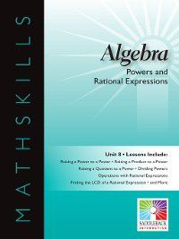 Mathskills: Algebra 1: Powers and Rational Expressions, Saddleback Educational Publishing